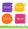 set hand drawn flat grunge stains on white back vector image vector image