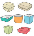 set of paper food container vector image vector image