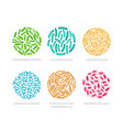 set of probiotic bacteria in a circle good vector image