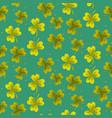 shamrock trefoil leaf seamless pattern vector image vector image