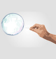 soap bubble background vector image vector image