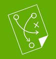 soccer strategy icon green vector image vector image