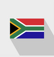 south africa flag long shadow design vector image