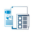 stationery office folder documents paper pencil vector image vector image