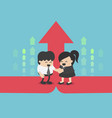 successful business men and women cooperation in vector image