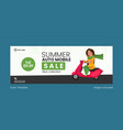 summer auto mobile sale cover page vector image