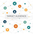 target audience trendy web template with simple vector image vector image