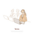 technical support workers team assistant vector image