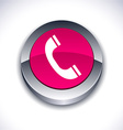 Telephone 3d button vector image vector image