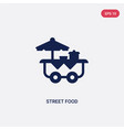 two color street food icon from fast food concept vector image vector image