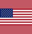 usa flag united states america national symbol vector image