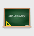 wooden school chalkboard with green background vector image vector image