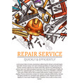 work tools poster for repair service vector image vector image