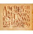 vintage gothic alphabet craft vector image