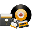 Classic disks and tapes vector image