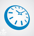 3d round stylized wall clock Time idea classic vector image vector image