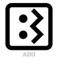 add conceptual graphic icon vector image vector image