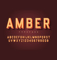 amber trendy inline vintage display font design vector image