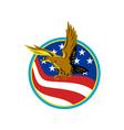 American Eagle Carry USA Flag Retro vector image vector image