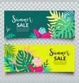banners summer tropical leaf sale vector image vector image