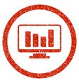 bar chart monitoring rounded grainy icon vector image vector image