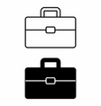black and white suitcases vector image vector image