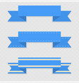 blue ribbon banners on gray background vector image