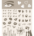 body parts design elements vector image vector image