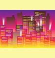 buildings in the capital at night vector image vector image