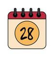 calendar 28 icon image vector image