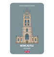 cathedral church st nicholas in newcastle uk vector image
