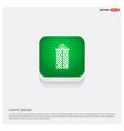 christmas gift box icon green web button vector image
