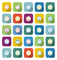 Circle face color icons with long shadow vector image vector image