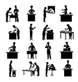 Cooking Icons Black vector image vector image
