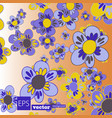 decorative floral background with flowers peony vector image vector image