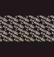 diagonal lines beddign seamless texture ink black vector image