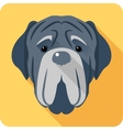 dog Neapolitan Mastiff icon head flat design vector image vector image
