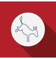Donkey animal inside circle design vector image