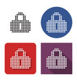 dotted icon unlocked padlock in four variants vector image