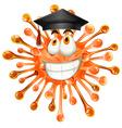 Freeform with graduation cap vector image vector image
