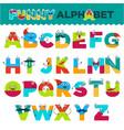 funny alphabet cartoon characters font vector image
