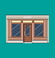 generic shop exterior wooden and bricks material vector image