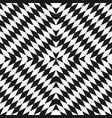 geometric monochrome seamless pattern optical art vector image