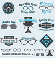 Glasses Labels and Icons vector image vector image