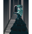 Gothic Stairs and Witch3 vector image vector image