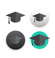 graduation cap on white vector image vector image