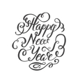 Happy New Year 2017 hand-lettering text on white vector image vector image