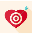 Heart target with arrow vector image vector image