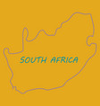 high detailed map - south africa vector image vector image