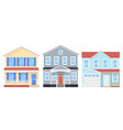 house front exterior home building vector image